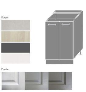 Unterschrank Küchenschrank Schrank Küche 60cm Einlegeboden 2-türig ...