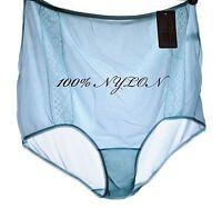 Vtg Style High Cut Nylon Lace Sissy Granny Panties Plus Size 12 - 16