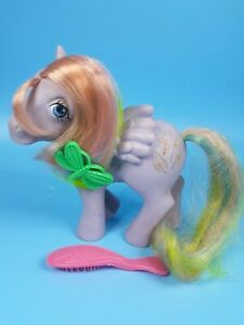 🌈 Vintage MY LITTLE PONY Tickle 🤣 Pegasus G1 Rainbow Ponies Glitter Feathers