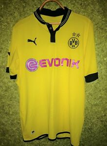100% authentic a0017 5e95e Details about BVB Borussia Dortmund 2012 2013 Home Shirt Jersey Soccer Puma  Football Size L