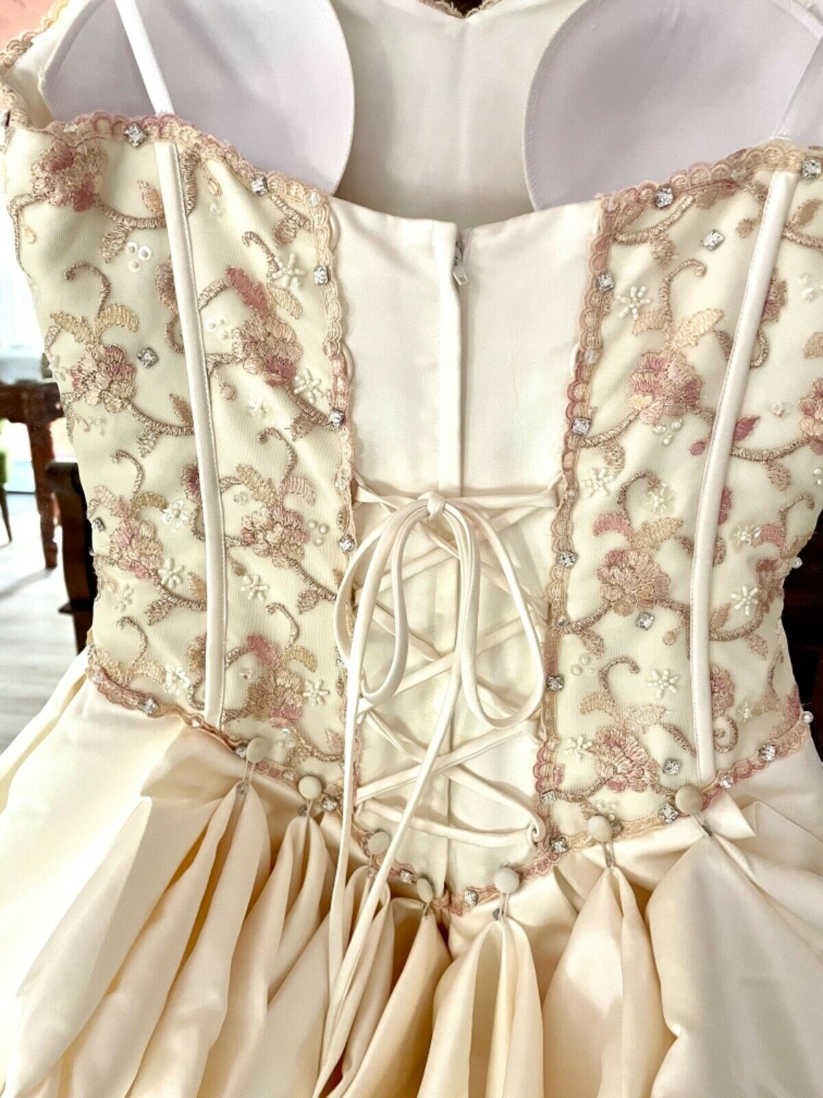 French bustle, corset, vintage, Victorian, Swarov… - image 3