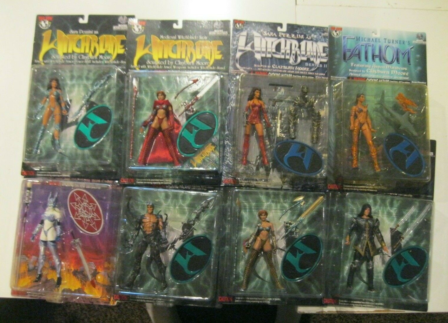 Lot of 8 Witchblade   Fathom   Lady death azione cifras Moore Collectibles