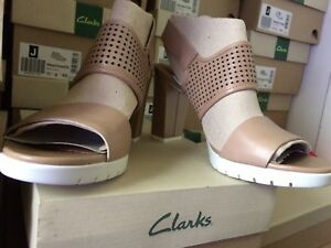 Unido £ 60 Reino Sling Tamaño para Pastina Sand 7d Rrp mujer Malory Leather Back Zapatillas Clarks del ZfwxqHZ7