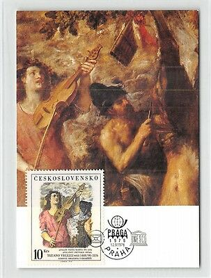 Briefmarken Cssr Mk 1978 Malerei Tizian Geige Violine Carte Maximum Card Mc Cm D9937 Gute QualitäT Diverse Philatelie