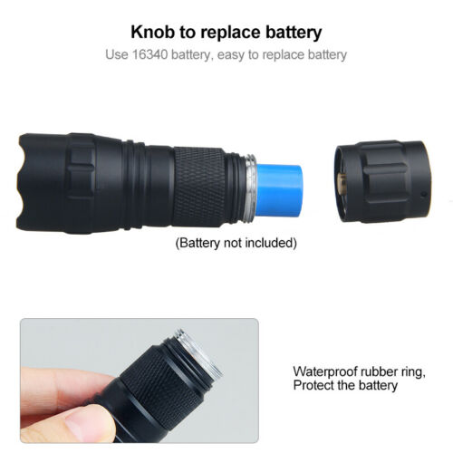 Mini Tactical Zoomable Portable Hunting Flashlight Hog Pig Coyote Varmint Torch
