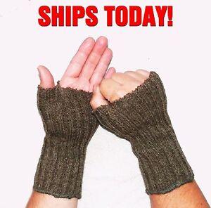 Swiss-Military-Issue-100-Wool-Fingerless-Gloves-Ice-Fishing-Mitten-Warmers