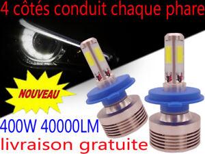 Ampoule-H7-H4-H11-LED-Blanc-400W-Xenon-6000K-Ventile-Aluminium-Phare-Cob-Voiture