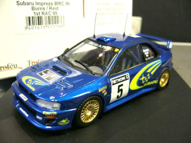 Subaru impreza wrc rallye Burns rac Go 1999 winner vainqueur trofeu 1 43
