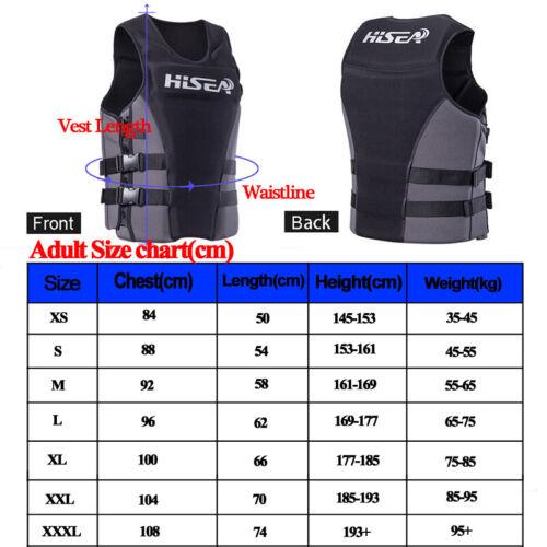 Hisea Erwachsener Kinder Rettungsweste 50N Schwimmweste zertifiziert Größenwahl