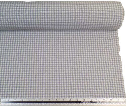 Argent blanc vichy carreaux en coton mélangé de haute qualité tissu matériau 3 tailles *
