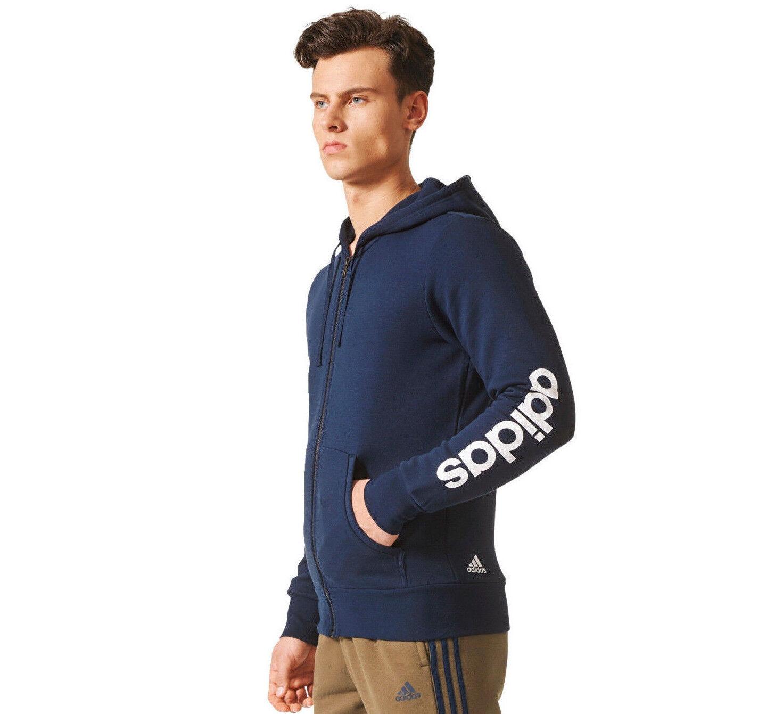 Adidas hombres  Felpa con Cappuccio Corsa Essentials Zip Formazione Atletico Navy  bajo precio del 40%