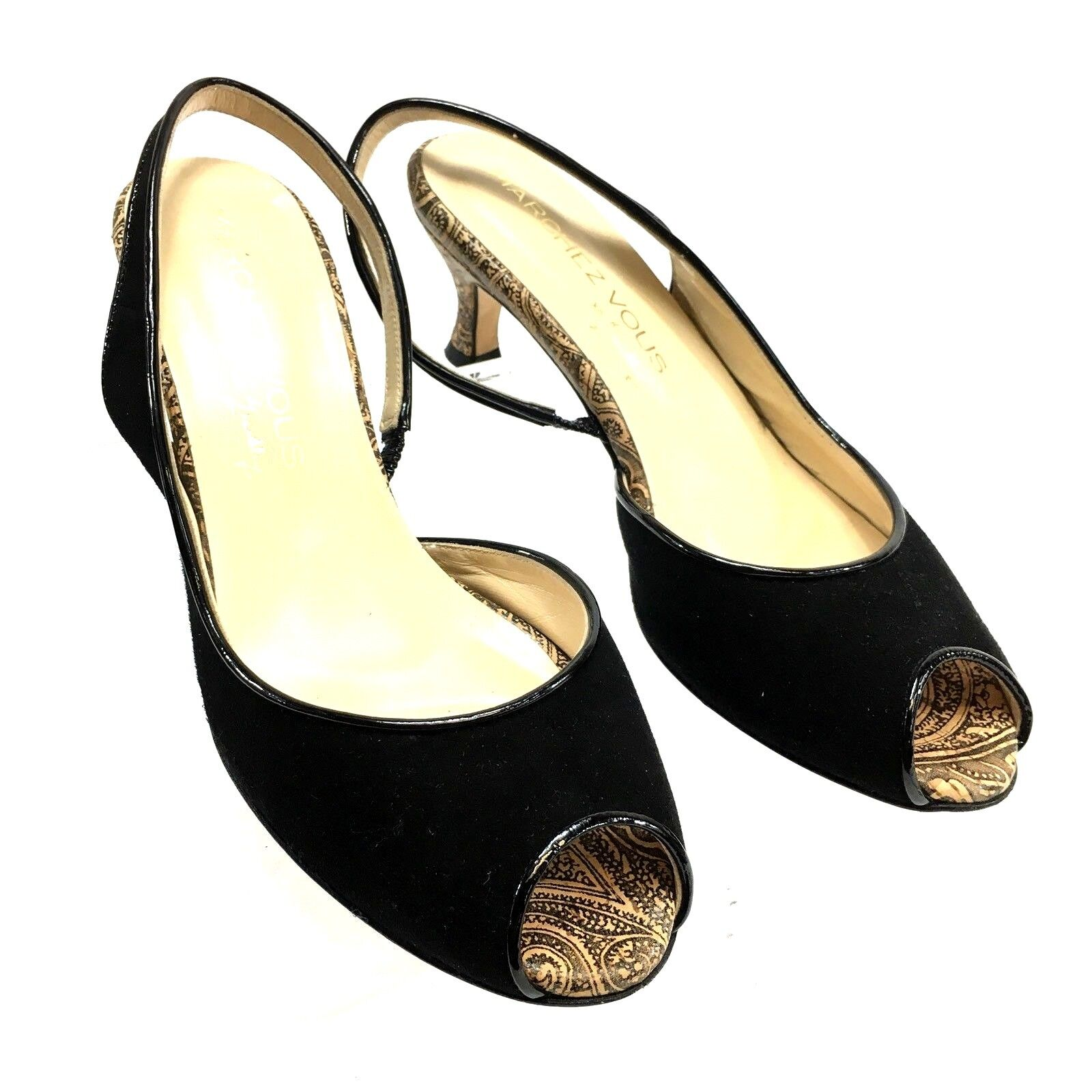Marchez Marchez Marchez vous XO Yeardley para mujeres Zapatos Negro Charol 2.5 in (approx. 6.35 cm) Gatito Tacón 8 S4  Venta al por mayor barato y de alta calidad.