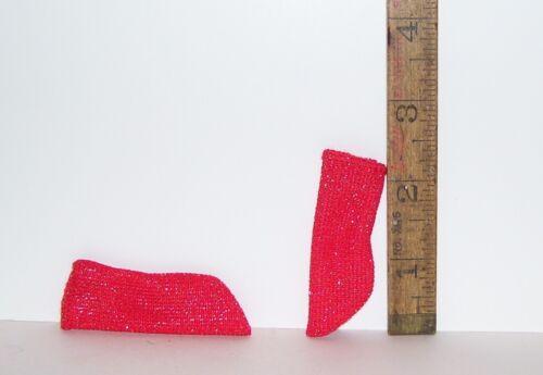 MATTEL VINTAGE Barbie KEN DOLL FINISHING TOUCHES MOD ERA RED GLITTER SOCKS
