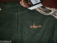 Men's Habit Realtree Camo Max-4 Fleece 1/4 Zip Top Size Xlarge Green W/ Tags