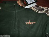 Men's Habit Realtree Camo Max-4 Fleece 1/4 Zip Top Size Xlarge Green W/ Tags