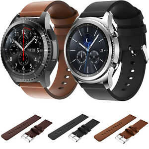 Cuir,Veritable,bracelet,montre,pour,Samsung,Galaxy,Gear,