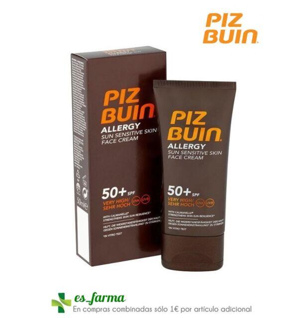 Piz Buin Allergy SPF50+ Crème Soin Du Visage Peau Sensible 50ML Protecteur