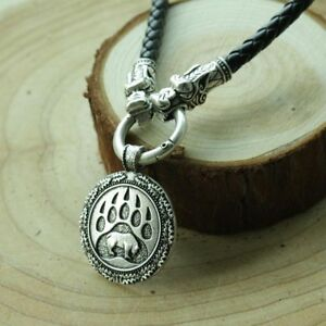 Valknut-Odin-039-s-bear-paw-Nordic-Slavic-Pendant-Necklace-Viking-Talisman-Jewelry