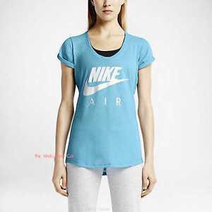 coupe pour T Air shirt Xs athlétique femme Blue Gym Casual Clouds Nike S FIIZfwxYq