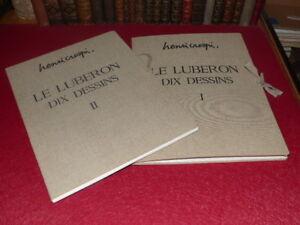 HENRI-CRESPI-LE-LUBERON-Complet-Signe-2-2-20-DESSINS-Ca-1970-Aix-en-P-1953