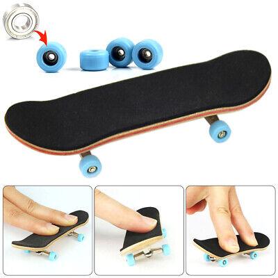 Complete Wooden Fingerboard Finger Skateboard Grit Box Foam Tape Maple Wood Gift