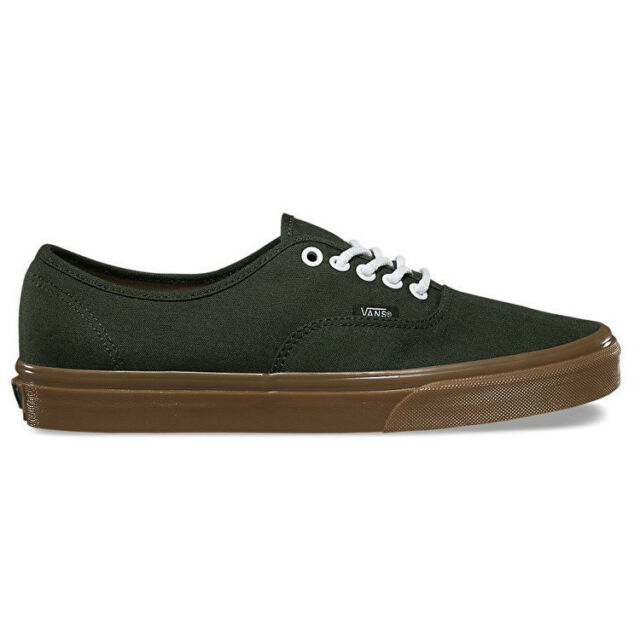 bd696a2a0e  182 VANS Mens GREEN AUTHENTIC LOW TOP CANVAS SKATEBOARDING SNEAKERS SHOES  6.5