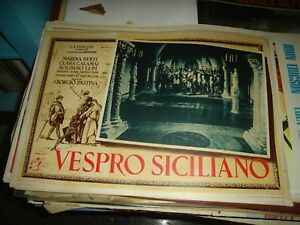 Vespro-Siciliano-Fotobusta-Pequena-Original-1949C-Lobos-Berti-Tipo-B