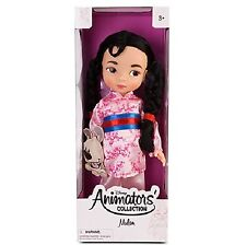 "1st EDITION Disney 2011 Disney Designer Animators Collection Doll Mulan 16"""
