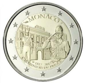2-Euro-Monaco-2017-Fuerstliche-Karabinierskompanie-inkl-Etui-in-PP