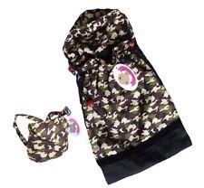 Teddy Bear Clothes fits Build a Bear Army Sleeping Bag & Backpack Clothing Set