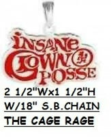 Pendant - Insane Clown Posse - Red Silver Plated Logo - With An 18ballchain
