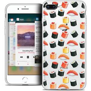 Coque-Crystal-Gel-Pour-iPhone-8-Plus-5-5-034-Extra-Fine-Souple-Foodie-Sushi