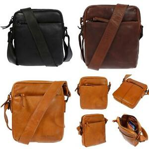 Herren-Damen-Echt-Leder-Umhaengetasche-Tasche-Schultertasche-RFID-Klein-Kleine