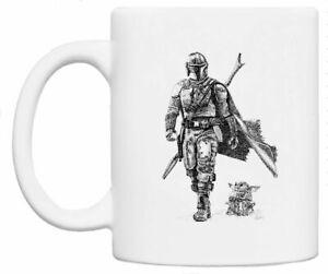 The Mandalorian & Baby Yoda - Original Star Wars Artwork Coffee/Tea Gift Mug