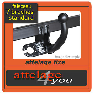 attelage fixes pour renault kangoo 1998 2007 faisceau standard 7 broches ebay. Black Bedroom Furniture Sets. Home Design Ideas