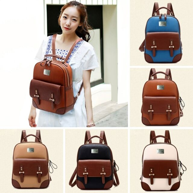 ZF0047 Korean Girls Fashion Women's Travel Satchel Shoulder Bag Backpack bookbag