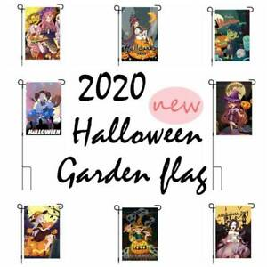 Halloween Night Happy Pumpkin Spooky Evil Garden House Yard Flag