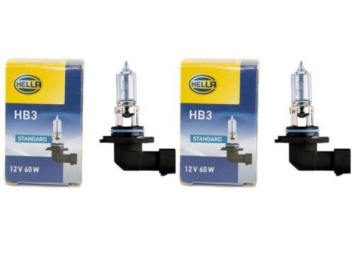 Hella 2x halógenas lámpara halógena bombilla hb3 12v 60w p20d Standard