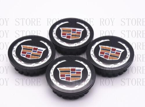 "4PC SET Black Wheel Center Hub Caps Cadillac ATS CTS DTS SRX STS XLR XTS 2-5//8/"""