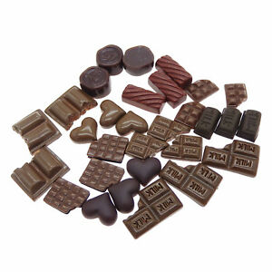 30-pcs-Pack-Mixed-Resin-Chocolate-Candy-Sweets-Cabochons-Flatback-Crafts-Decor