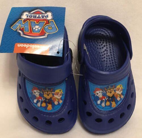 Brand New Sandals//Clogs Boys Beach//Summer Paw Patrol Size 5-6 Blue
