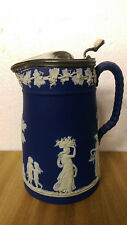 Dudson Jasperware Brownhills Pottery Company Lidded Syrup Pitcher c.1880