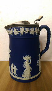 Dudson Jasperware Brownhills Pottery Company Lidded Syrup Pitcher c ...