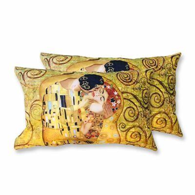 Coppia Federe Per Guanciale Il Bacio Klimt I Love Sleeping Stampa Digitale 3d...