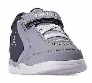 fournir beaucoup de acheter bien divers design Détails sur Nike Air Jordan Big Fund Td Gris Foncé Blanc Garçon Chaussures  Bébé CD9650-002