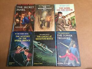 Lot-6-HARDY-BOYS-Books-by-Franklin-W-Dixon-Vintage-Mat-Hardcover-Children-s-NB5