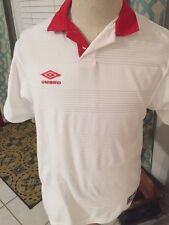 Men's Umbro Red White Short Sleeve Polo Jersey Shirt Small