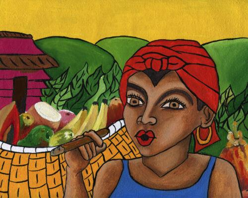 "CUBAN ART #025**ROCIO** HABANERA 18X22"" SIGNED ON CANVAS"