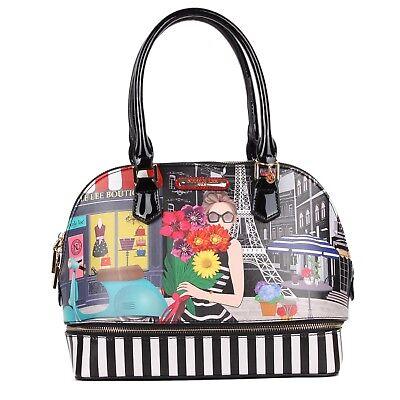 Nicole Lee Usa A Day In Paris Ciel Dome Smart Lunch Handbag Ebay
