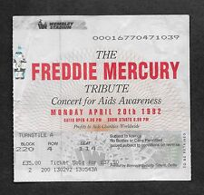 QUEEN - FREDDIE MERCURY  :  1992 TRIBUTE CONCERT WEMBLEY STADIUM TICKET STUB